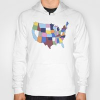 usa Hoodies featuring USA by Project M