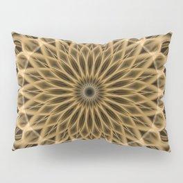 Brown and golden mandala Pillow Sham