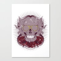 disco Canvas Prints featuring Disco by Tshirt-Factory