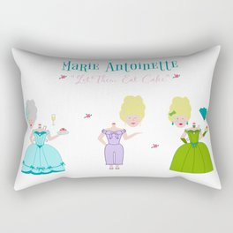 Marie Antoinette - Let Them Eat Cake Paper Dolls Rectangular Pillow