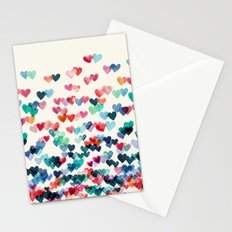 Heart Connections - watercolor painting Stationery Cards