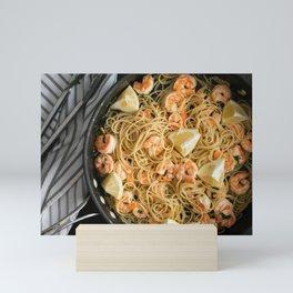 Garlic Butter Shrimp Pasta Mini Art Print