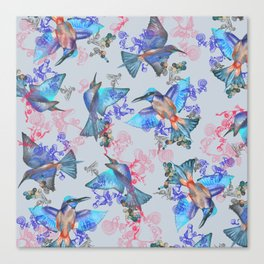 bee eaters pattern Canvas Print