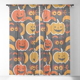My funny and cute Halloween Sheer Curtain