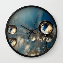 Royal Sea Blue Drops Wall Clock
