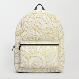 Gold Nagual | Tribal pattern Backpack