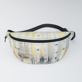 Birch Forest In The Morning Fanny Pack