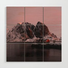 Sunrise in Lofoten Wood Wall Art