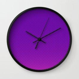 Purple halftone Wall Clock