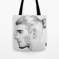 zayn malik Tote Bags featuring zayn malik soft by Adele_F