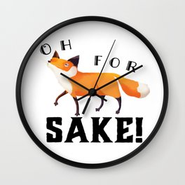 Oh for Fox Sake! Wall Clock