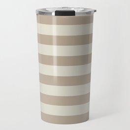 Beige stripes Travel Mug