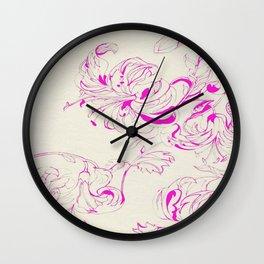 Petals and pistils III Wall Clock