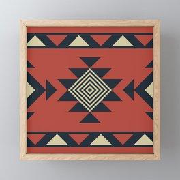 Aztec pattern Framed Mini Art Print