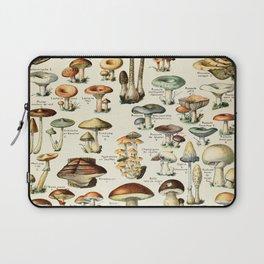 Vintage Mushroom & Fungi Chart by Adolphe Millot Laptop Sleeve