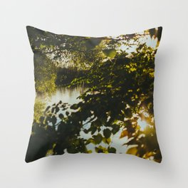 Over the River & Through the Trees Throw Pillow