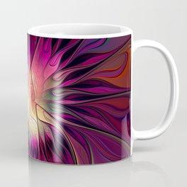 Flowering Fantasy, Abstract Fractal Art Coffee Mug
