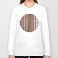 wooden Long Sleeve T-shirts featuring wooden by Katharina Nachher