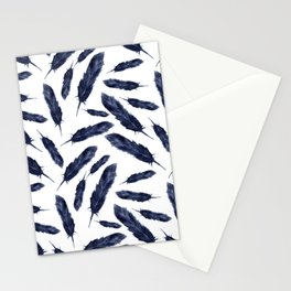 Watercolor pattern with navi feathers Stationery Cards