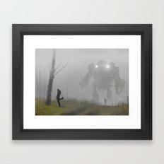 mech in the mist Framed Art Print