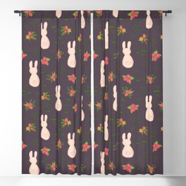 Flower Bunnies Blackout Curtain