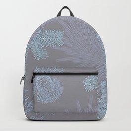 Delicate Pastel Wild Winter Garden Flowers Backpack