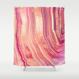 Tribeca Rose Geode Shower Curtain