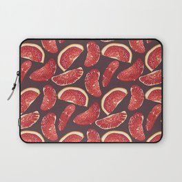 Grapefruit slices in realistic pattern Laptop Sleeve
