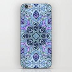 Navy Blue, Mint and Purple Boho Pattern  iPhone & iPod Skin
