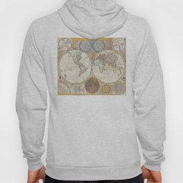 1794 Laurie & Whittle Old Map of the World Hoody