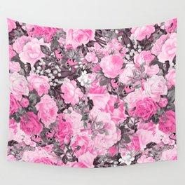 Floral pink vintage pattern Wall Tapestry