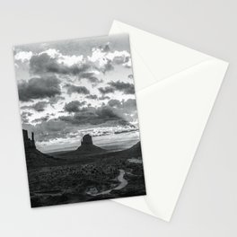 Southwest Wanderlust - Monument Valley Sunrise Black and White Stationery Cards