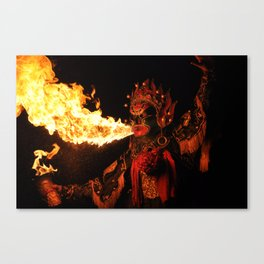 Fire Breathing Canvas Print