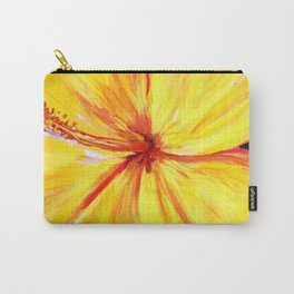 Aloha; Yellow Hibiscus Carry-All Pouch