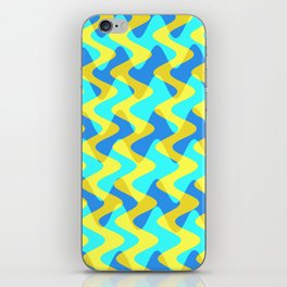 Crosswave Yellow - Electron Series 001 iPhone Skin
