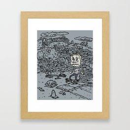 Manual pad Framed Art Print