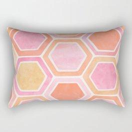 Desert Mood II - Watercolor Hexagon Pattern Rectangular Pillow
