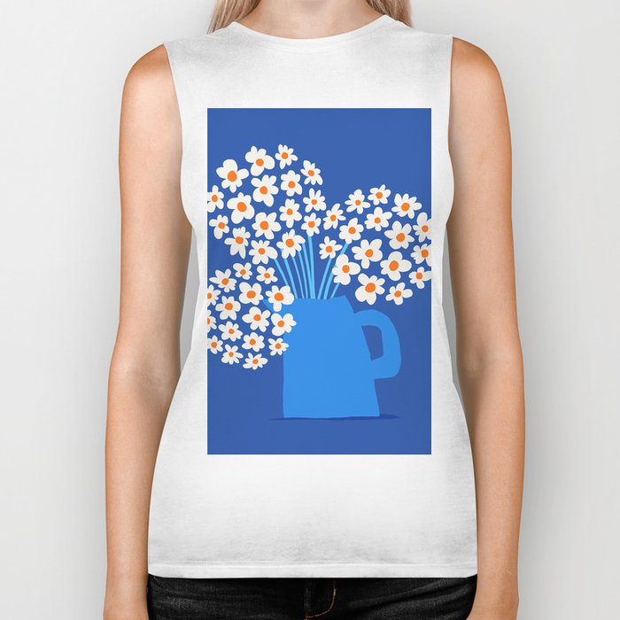 Abstraction_FLORAL_Blossom_001 Biker Tank