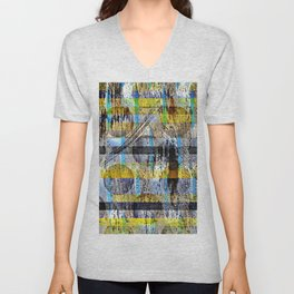 ABSTRACT/LIPSTICK ON A PIG Unisex V-Neck