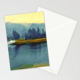 Misty River Island Stationery Cards
