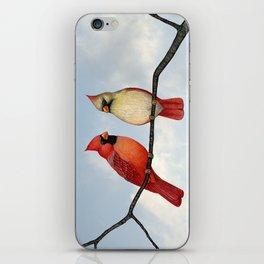 cardinal couple iPhone Skin