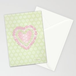 delightful heart Stationery Cards