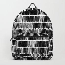 Infinite Lines Pattern - Black Backpack