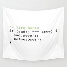 Life Motto Wall Tapestry