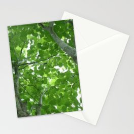 Looking through the Treetops Stationery Cards