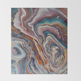 rainbow agate Throw Blanket