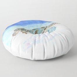Sea turtle underwater Floor Pillow