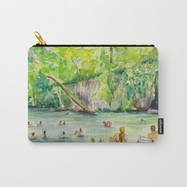Krause Springs - historic Texas natural springs swimming hole Carry-All Pouch