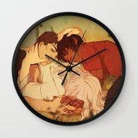 berserk Wall Clocks featuring Peace by Marta Milczarek