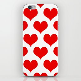 Holidaze Love Hearts Red iPhone Skin